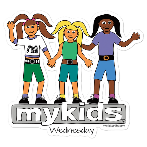 MyKids Unite Wednesday Bubble-free stickers