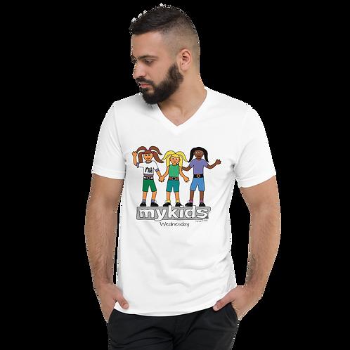 MyKids Unite Wednesday Unisex V-Neck T-Shirt