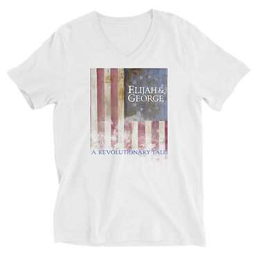 Unisex V-Neck TShirt-E&G Colonial Flag