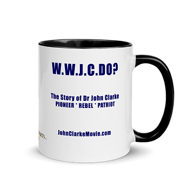 What Would John Clarke Do? Mug with Color Inside