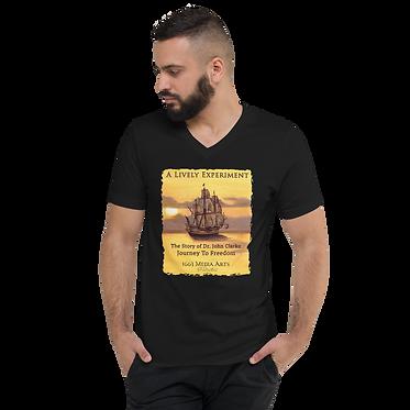 Colonial Ship Unisex V-Neck T-Shirt