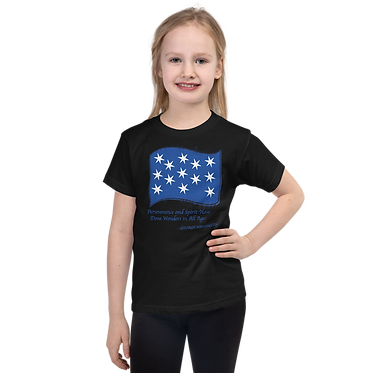 Unisex Kids TShirt-George Washington Flag