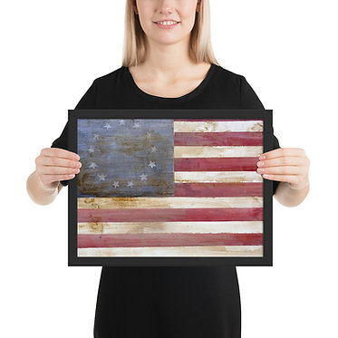 Colonial Flag Framed poster