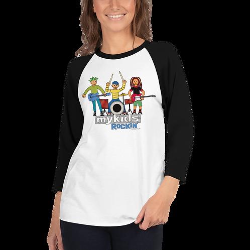 Women's Rockin MyKids 3/4 sleeve raglan shirt