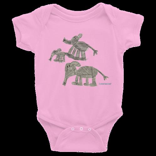 Elephant Family Infant Bodysuit