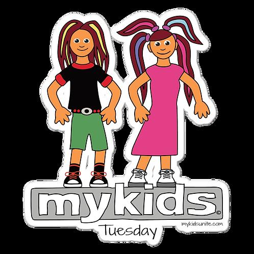MyKids Unite Tuesday Bubble-free stickers
