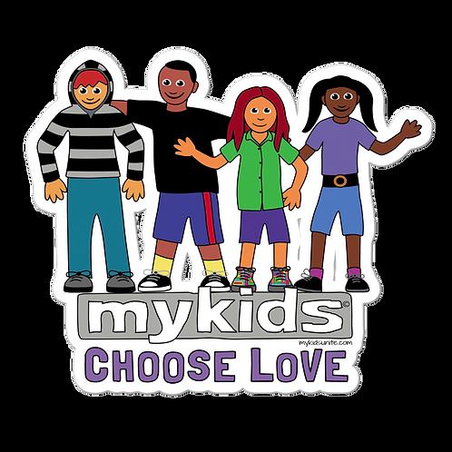 MyKids Unite Choose Love Bubble-free stickers