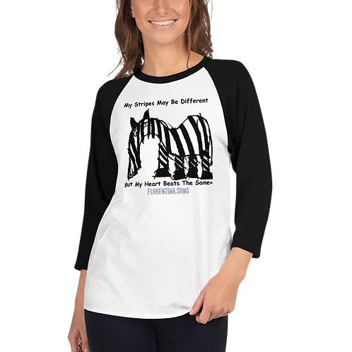 Women's Original Stripes 3/4 sleeve raglan shirt
