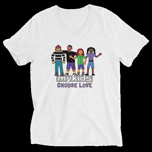 MyKids Unite Choose Love Unisex Short Sleeve V-Neck T-Shirt