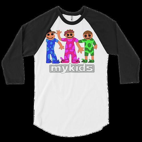 Men's Pajama Kids 3/4 sleeve raglan shirt