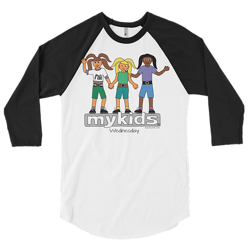 Men's MyKids Unite Wednesday 3/4 sleeve raglan shirt