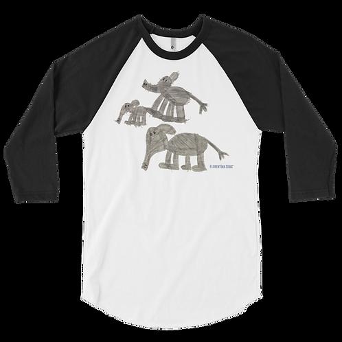 Men's Elephant Family 3/4 sleeve raglan shirt