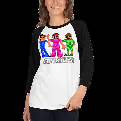 Women's Pajama Kids 3/4 sleeve raglan shirt