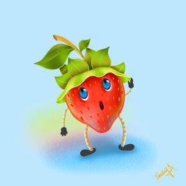 Nicky the strawberry