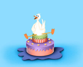 Mr Duckling and his cake