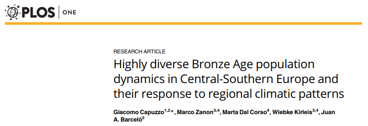 Bronze Age population dynamics by Giacomo Capuzzo