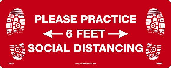6 ft Distance Reminder, rectangle