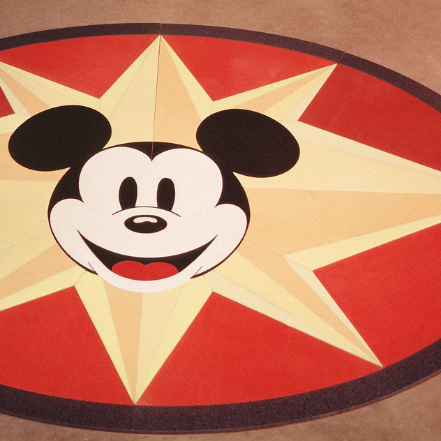 Disney Retail Store floor medallion featuring Mickey Mouse