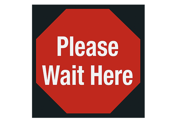 Please Wait Vinyl Tile Fabrication