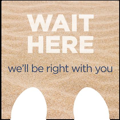 Wait Here, sand