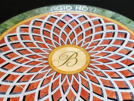 Bellagio Hotel and Casino Greets Guests with Iconic Monogram in Elegant Natural Stone