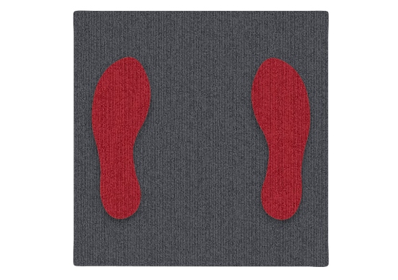 Shoeprint Carpet Tile Fabrication