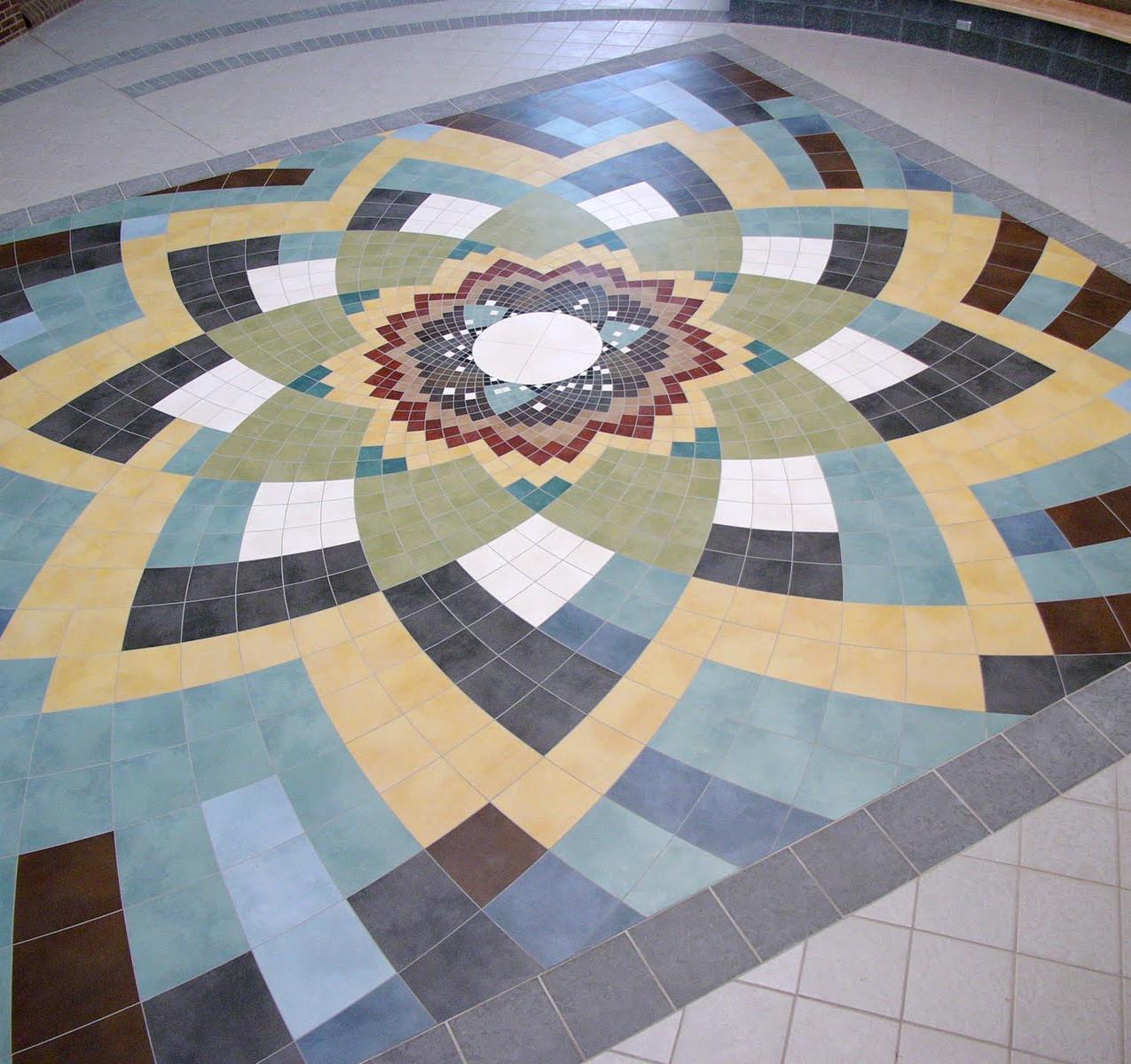 Augustana College tile floor