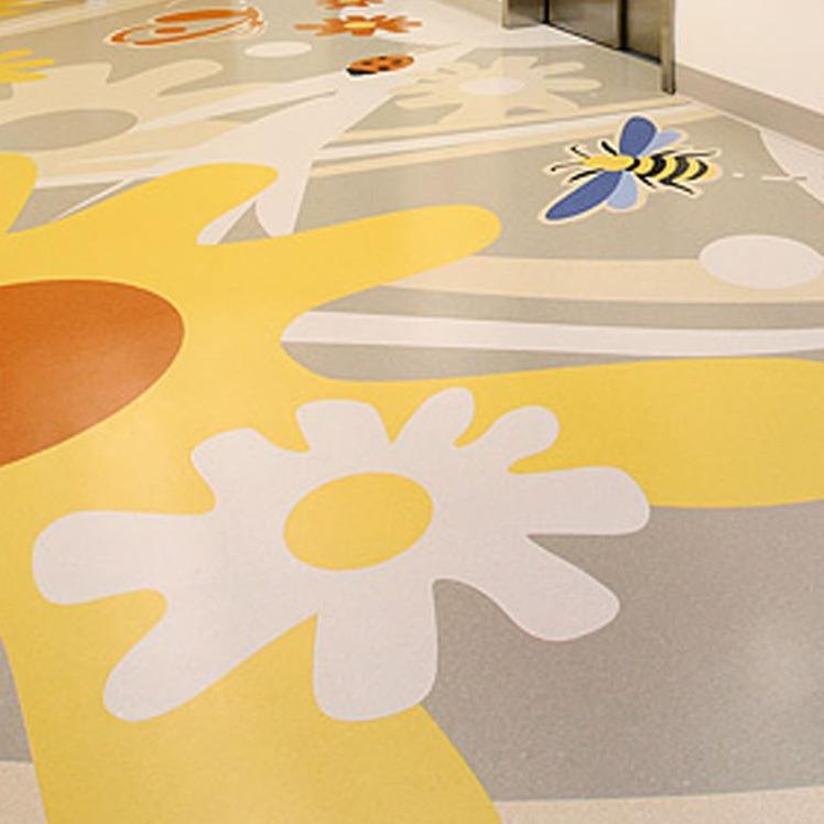 Energetic, durable vinyl floor