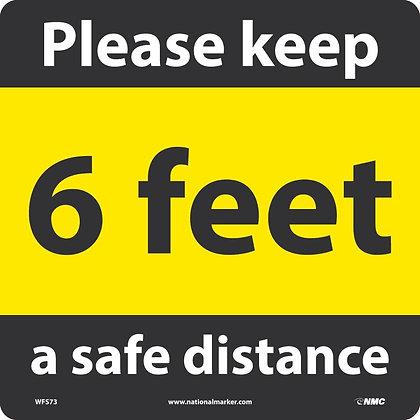 6 ft Distance Reminder, square