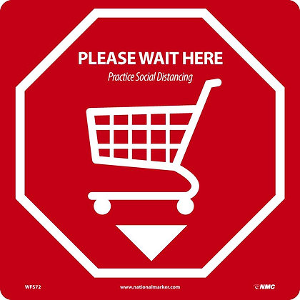 Please Wait Here Shopping Cart