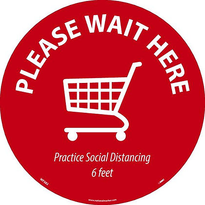 Please Wait Here Shopping Cart, circle