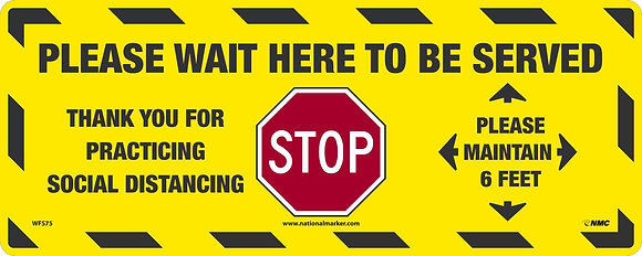 Stop Please Wait Here, yellow