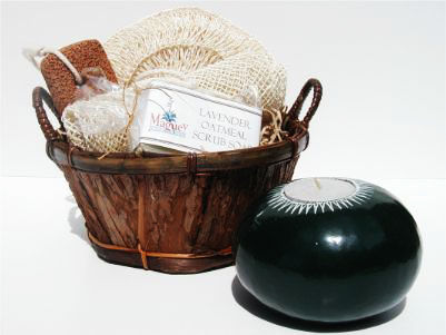 Rustic Tree Bark Bath Set