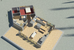 Eco House - Section Aerial