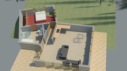 Eco House- Section Aerial