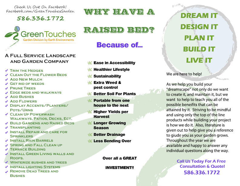 Green Touches Flyer