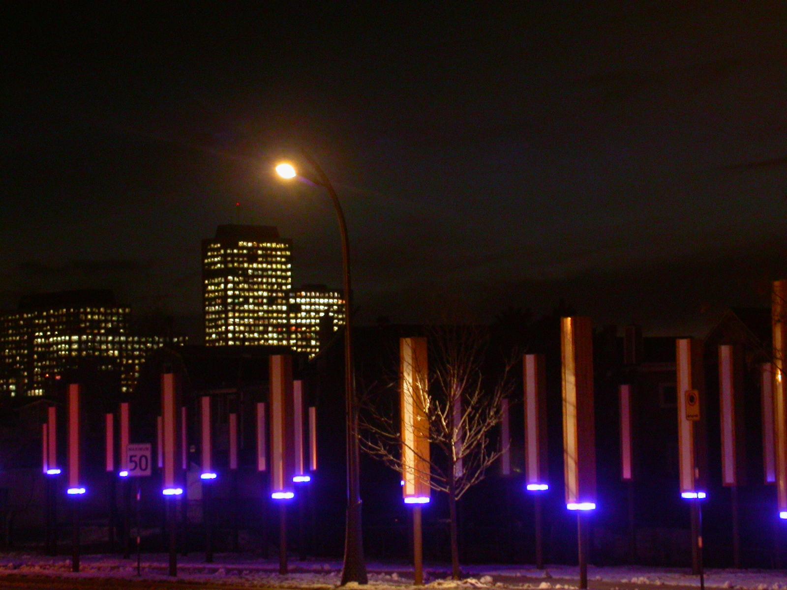 Étude lumière urbaine