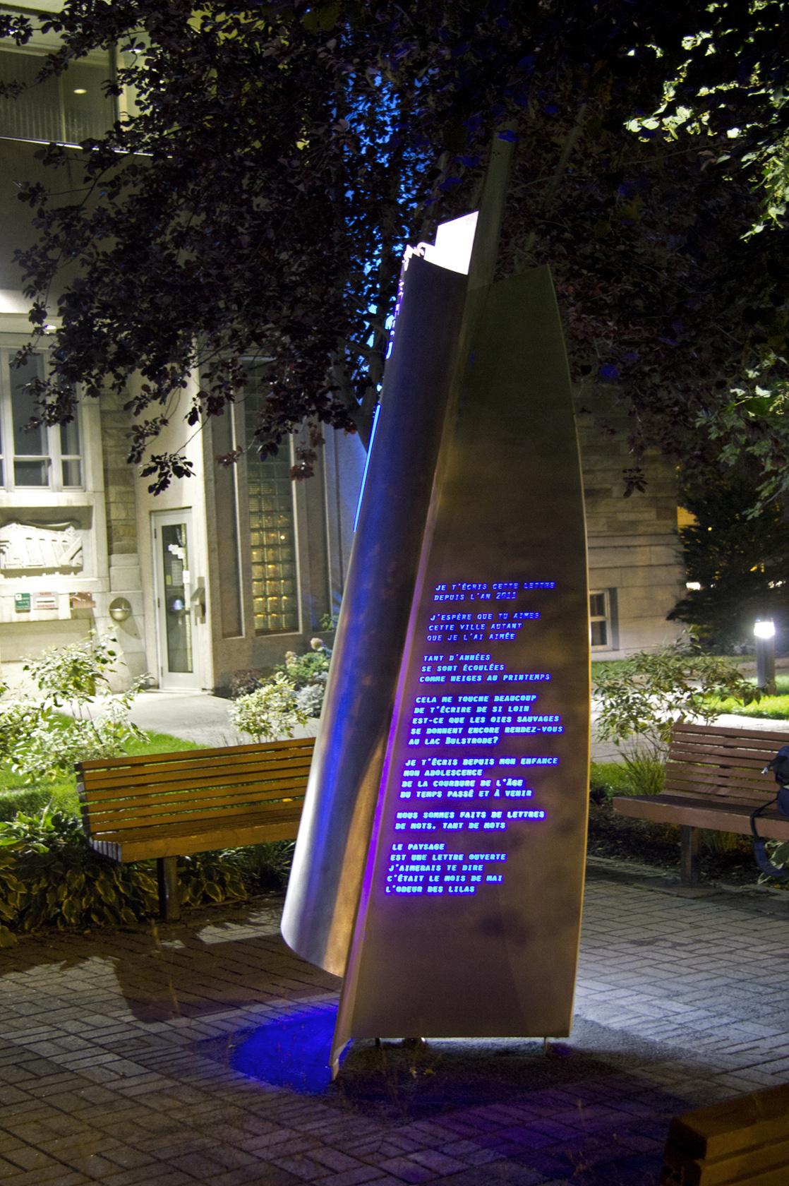 Mise en lumière sculpture