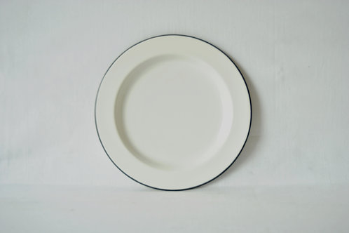 Plato blanco borde negro 28cm