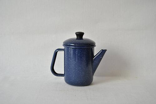 Cafetera enlozada azul