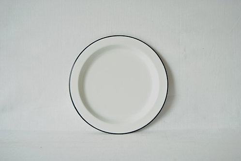 Plato 26cm blanco borde negro