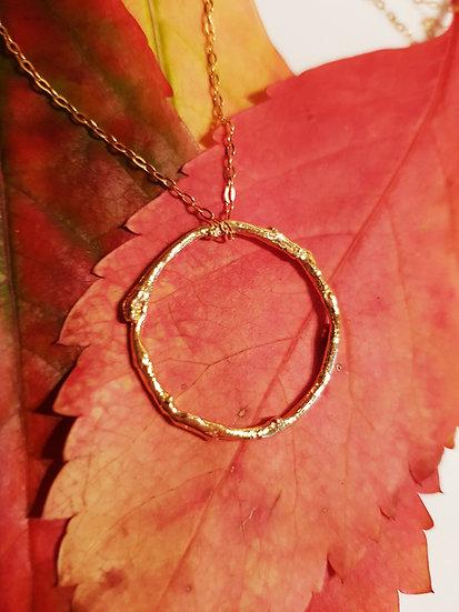 Vermeil Vine Eternity Necklace