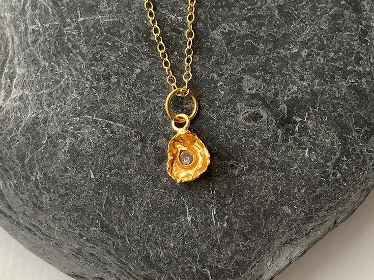 Diamond Vermeil necklace