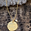 Thumbnail: Vermeil Organic Disc Pendant (with freshwater pearl)