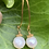 Thumbnail: Small freshwater pearl vermeil earrings with long earwires