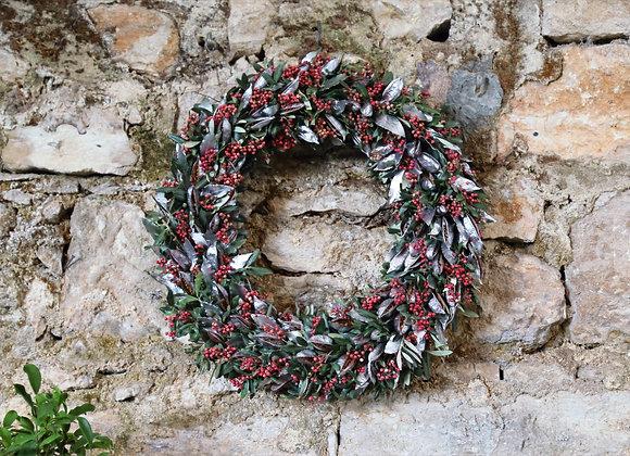 Bottle Tree Silver Wreath