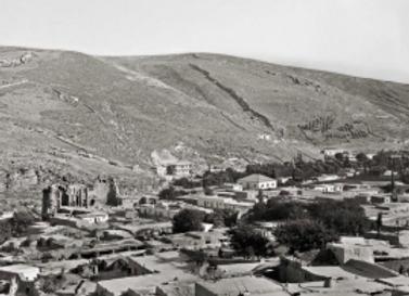 Bird's-eye view of Amman, looking towards the basilica