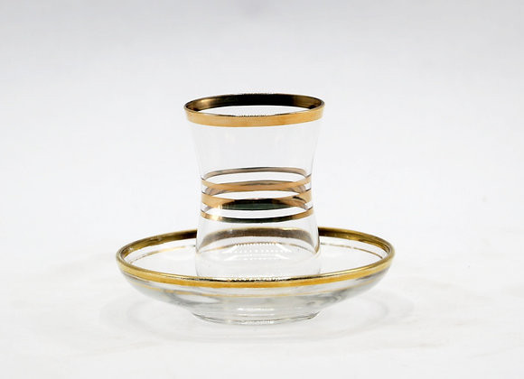 Hind Tea Cups with Plates