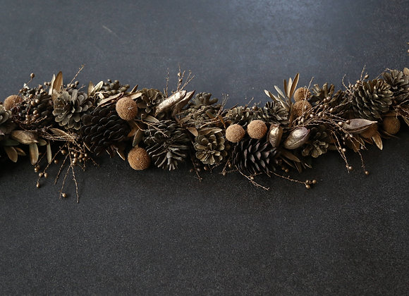 Gold Pinecone Table-runner