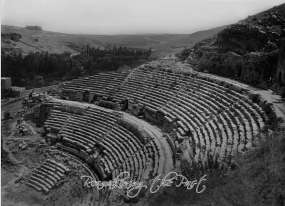 Amman. Close view of the Roman Theater, 1900-20